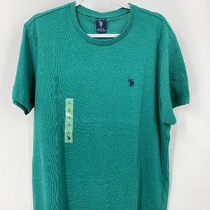 U.S. Polo Assn Green Crew Neck T-shirt NEW